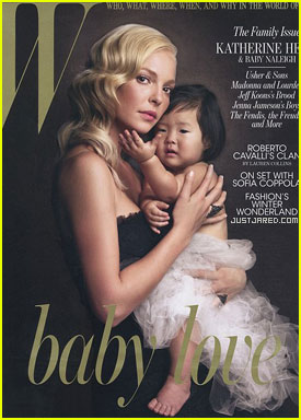 Katherine Heigl & Naleigh Cover 'W' December 2010