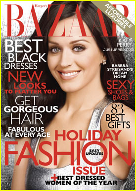 Katy Perry Covers 'Harper's Bazaar' December 2010