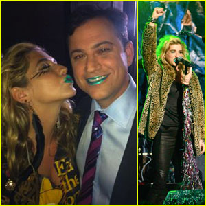 Ke$ha &#038; Jimmy Kimmel: Matching Lipstick!