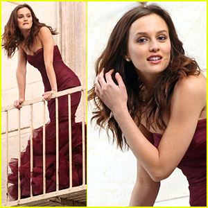 Leighton Meester Shoots Vera Wang Fragrance Commercial