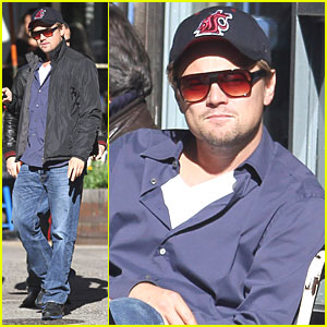 Leonardo DiCaprio: Cafe Gitane Lunch with Baz Luhrmann!