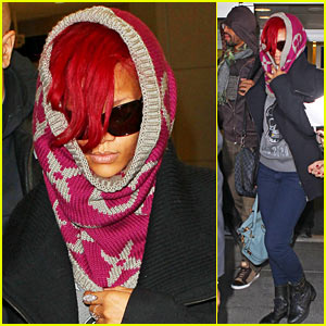 Rihanna: JFK Arrival with Matt Kemp!