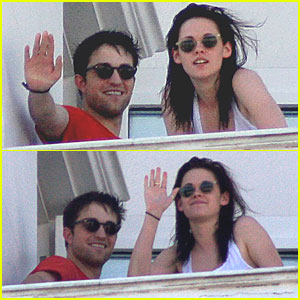 Kristen Stewart & Robert Pattinson: Balcony in Brazil!