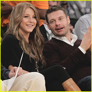 Ryan Seacrest & Julianne Hough: Courtside at Lakers Game!