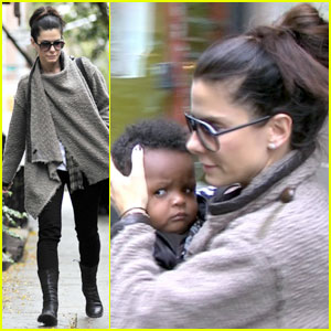 Sandra Bullock: Running Errands With Baby Louis