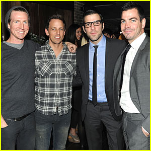 Zachary Quinto & Seth Meyers: Brotherly Love!