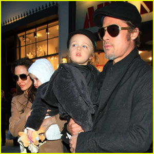 Angelina Jolie & Brad Pitt: Lee's Art Shop With the Twins!