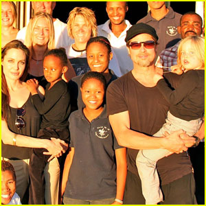 Angelina Jolie & Brad Pitt: Photo with Namibia Hosts!