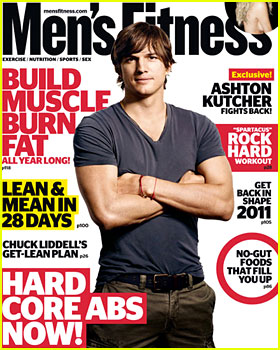 Ashton Kutcher Covers 'Men's Fitness' February 2011