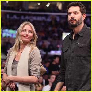Cameron Diaz & Guy Oseary: Lakers Game!