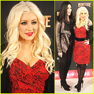 Christina Aguilera & Cher: 'Burlesque' in Madrid!