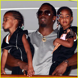 Diddy: On a Boat with Twins D'Lilah & Jessie!