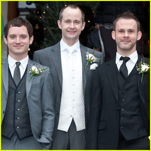 Elijah Wood & Dominic Monaghan: Billy Boyd Wedding!