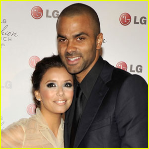 Eva Longoria & Tony Parker Reunite for Lunch