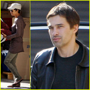 Olivier Martinez Helps Halle Berry with Storage