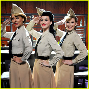 Katy Perry & Keri Hilson Ready To Salute The Troops