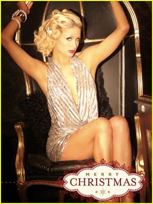Paris Hilton's Hot Christmas Card!