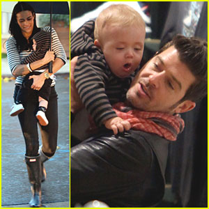 Robin Thicke & Paula Patton: Shopping with Julian!