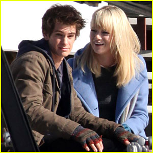 Andrew Garfield & Emma Stone: Spidey and Gwen!