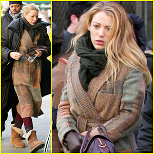 Blake Lively Bundles Up for 'Gossip Girl'