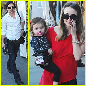 Cam Gigandet: Kings Road Cafe with Dominique & Everleigh!