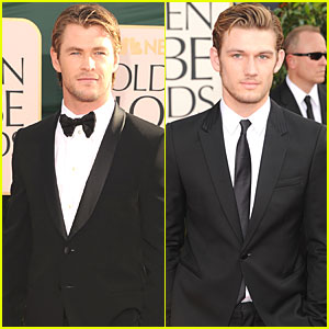 Alex Pettyfer & Chris Hemsworth - Golden Globes 2011 Red Carpet