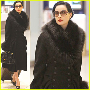Dita Von Teese: InStyle February Feature!
