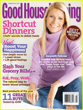 Gwyneth Paltrow Covers 'Good Housekeeping' February 2011