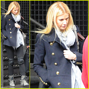 Gwyneth Paltrow: Military Chic in NYC