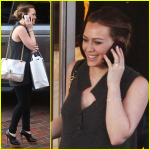 Hilary Duff: Shopping Time at Neiman Marcus