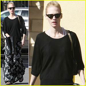 January Jones: Pedicure Time!