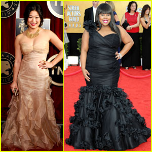 Jenna Ushkowitz & Amber Riley - SAG Awards 2011 Red Carpet