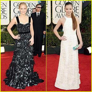 Hailee Steinfeld & Jennifer Lawrence: 2011 Golden Globes Red Carpet
