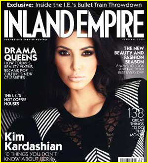 Kim Kardashian Covers 'Inland Empire' February 2011