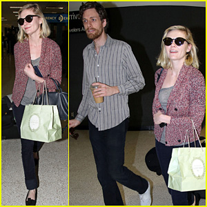 Kirsten Dunst & Jason Boesel: Reunited at LAX!