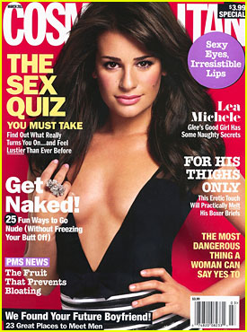 Lea Michele Covers 'Cosmopolitan' March 2011