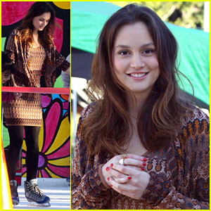 Leighton Meester: Ice Skating for Hope!