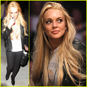 Lindsay Lohan is a Laker Girl
