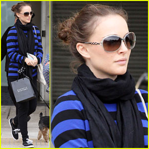 Natalie Portman: Barneys Run with Mom & Dad!