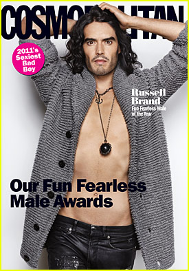 Russell Brand Covers 'Cosmopolitan' February 2011