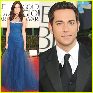Mandy Moore &#038; Zachary Levi - Golden Globes 2011 Red Carpet
