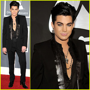 Adam Lambert - Grammys 2011 Red Carpet