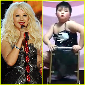 Christina Aguilera: Asian Boy Burlesque!