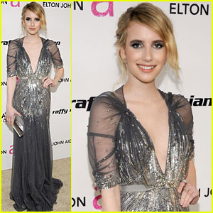 Emma Roberts - Elton John Oscar Viewing Party!