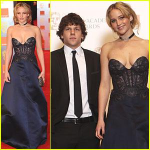 Jennifer Lawrence & Jesse Eisenberg: BAFTAs 2011