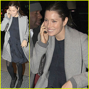 Jessica Biel: Valentine's Day Dinner with Friends