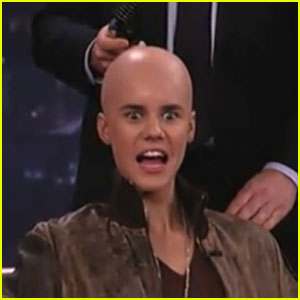 Justin Bieber Goes Bald for Jimmy Kimmel!