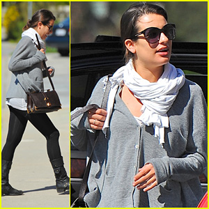 Lea Michele: Early Recording Session!