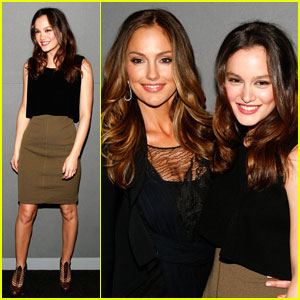 Leighton Meester: Apple Store Soho with Minka Kelly!
