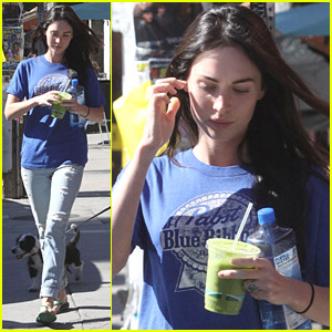 Megan Fox Drinks Food Juice With Brian Austin Green